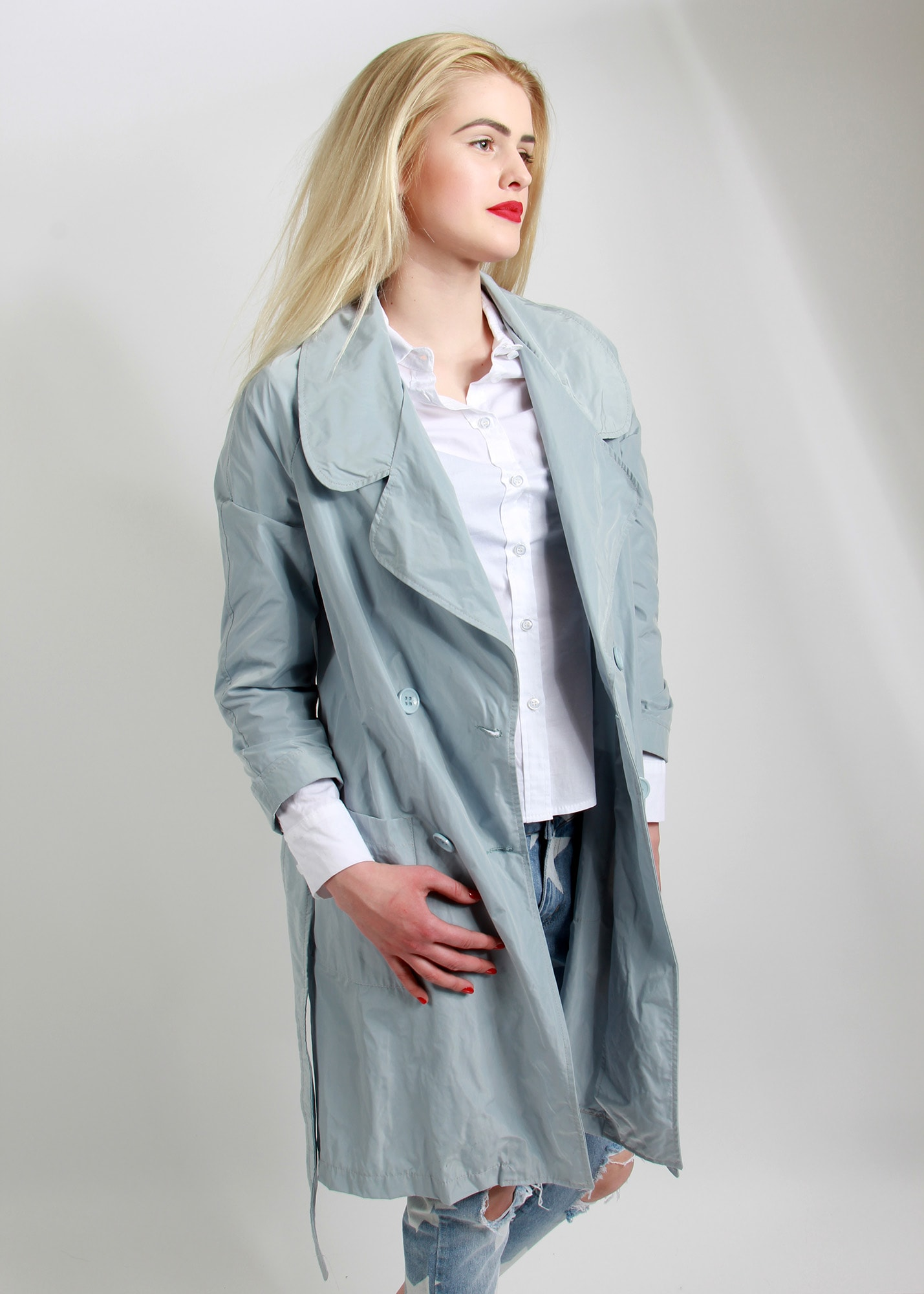 Angelica Blu Italian coat