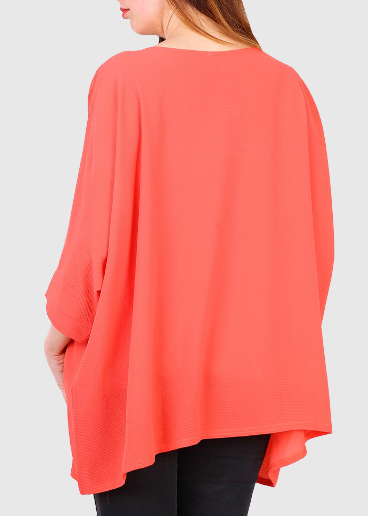 Photo №1 Francesca Plus Size coral blouse