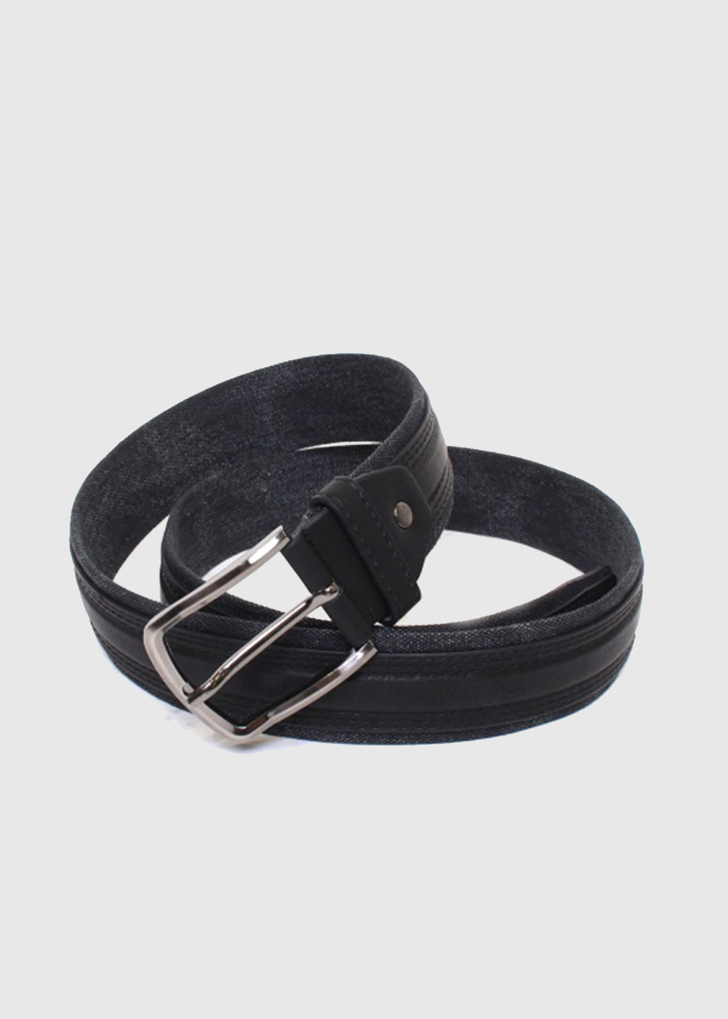 dcb8de307e8c Manzu black leather belt with metal buckle - Clothing store KOKOS