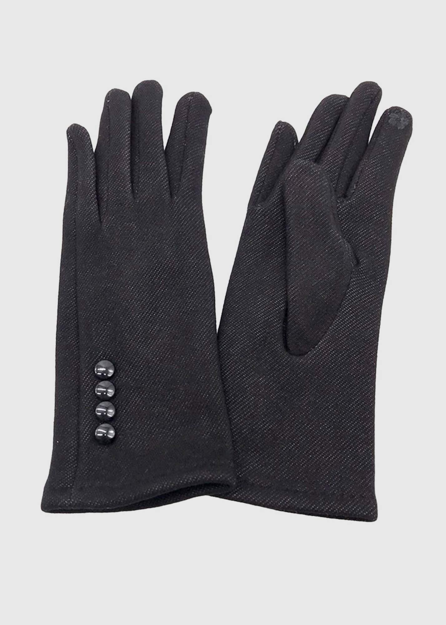 Fabiana black warm gloves