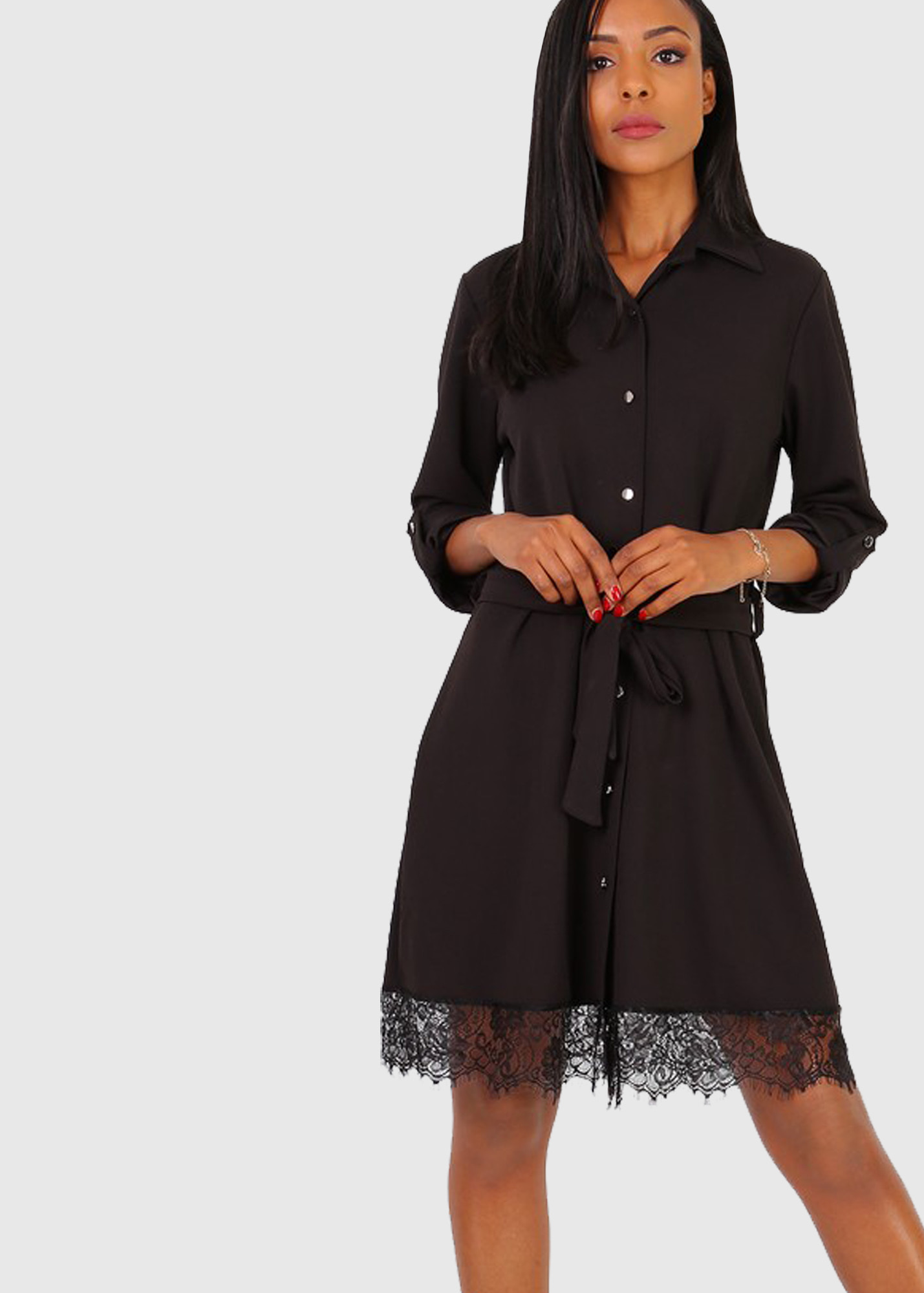 Nunziella italian black shirt dress