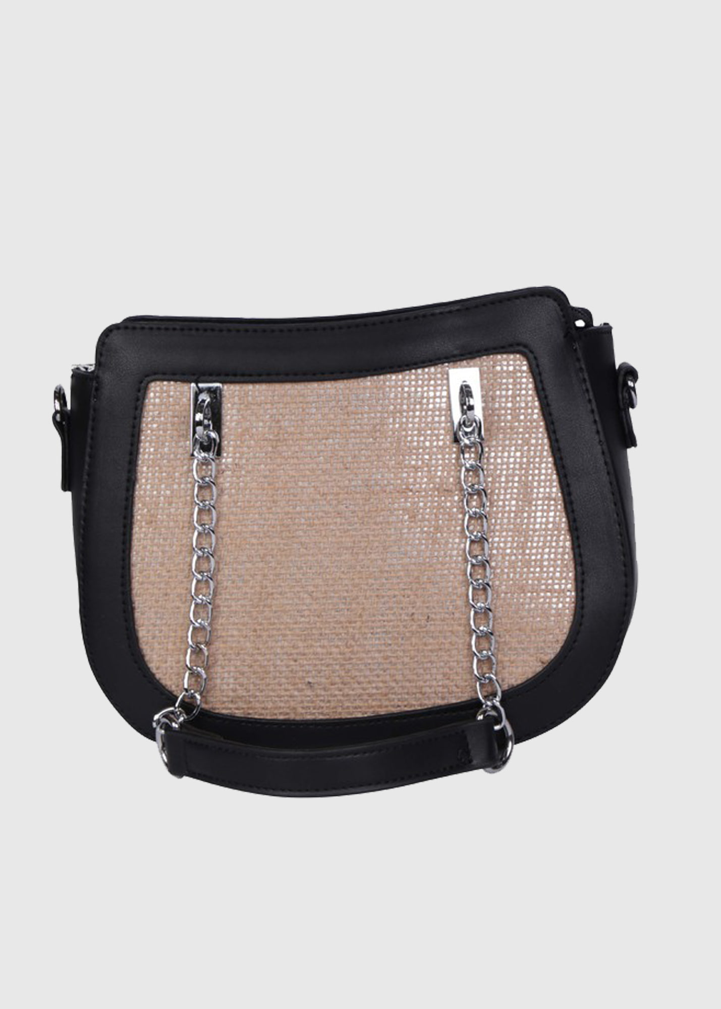 Giacinta black bag with chain strap