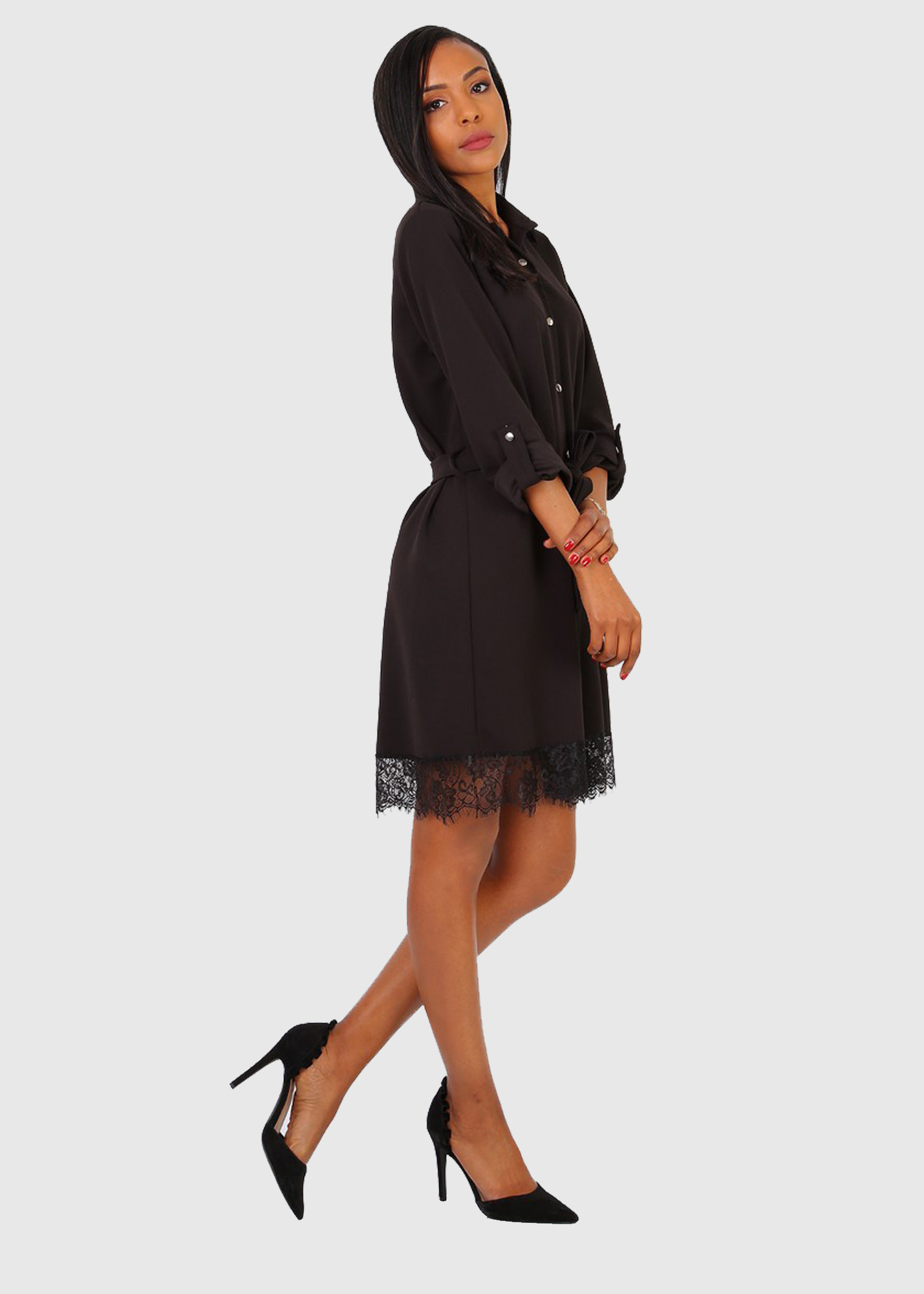 Photo №2 Nunziella italian black shirt dress