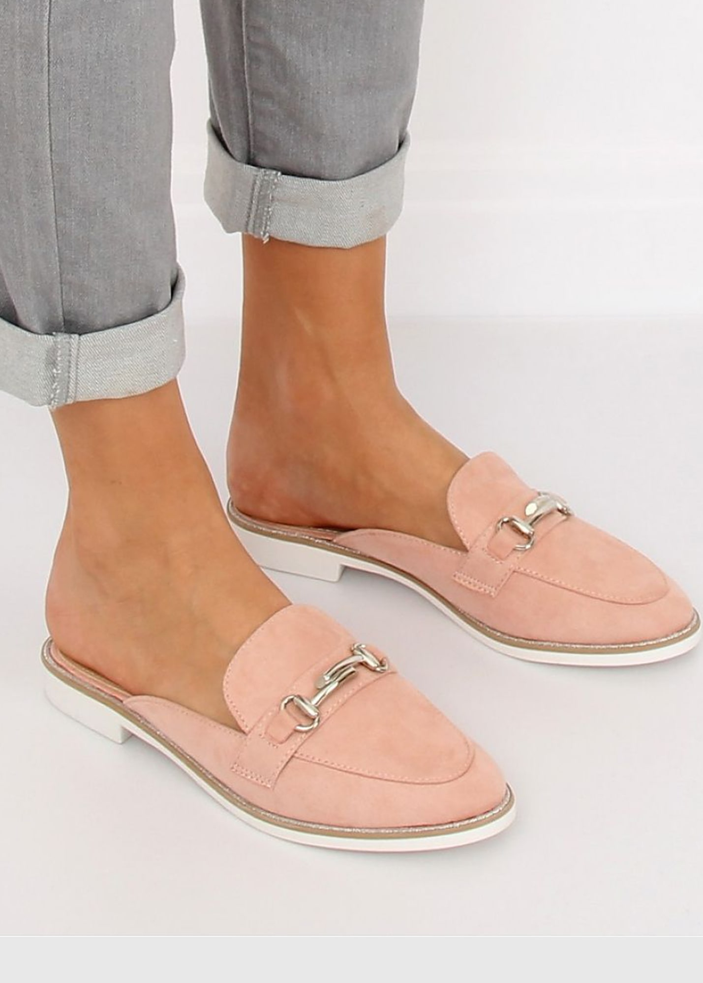 Photo №2 Ricarda pink metal buckles loafers