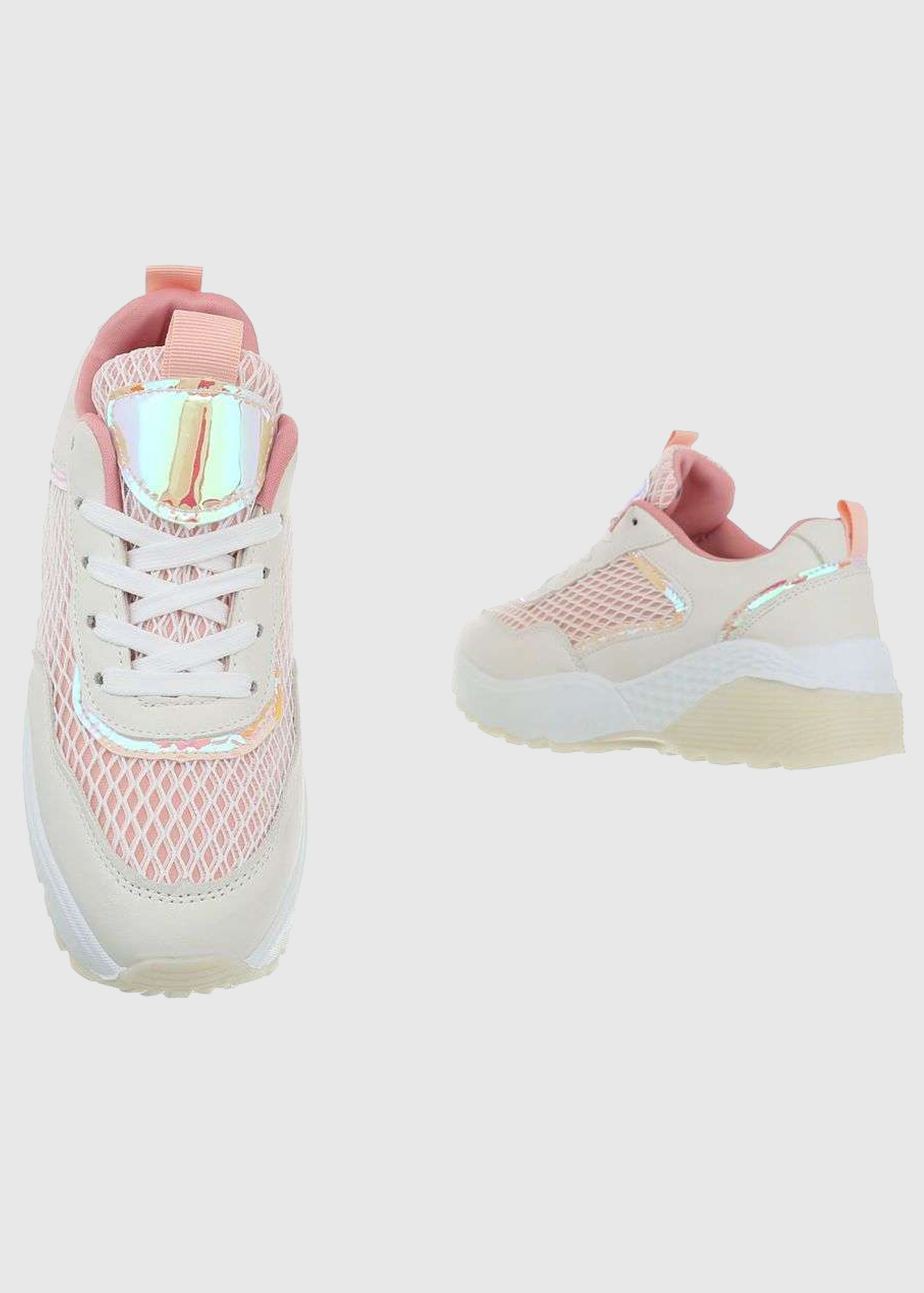 Photo №3 Lorenza white and pink sneakers
