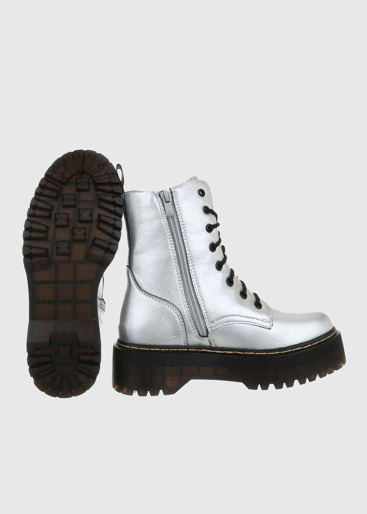 exquisite design discount so cheap Sandra silver flat boots - Clothing store KOKOS