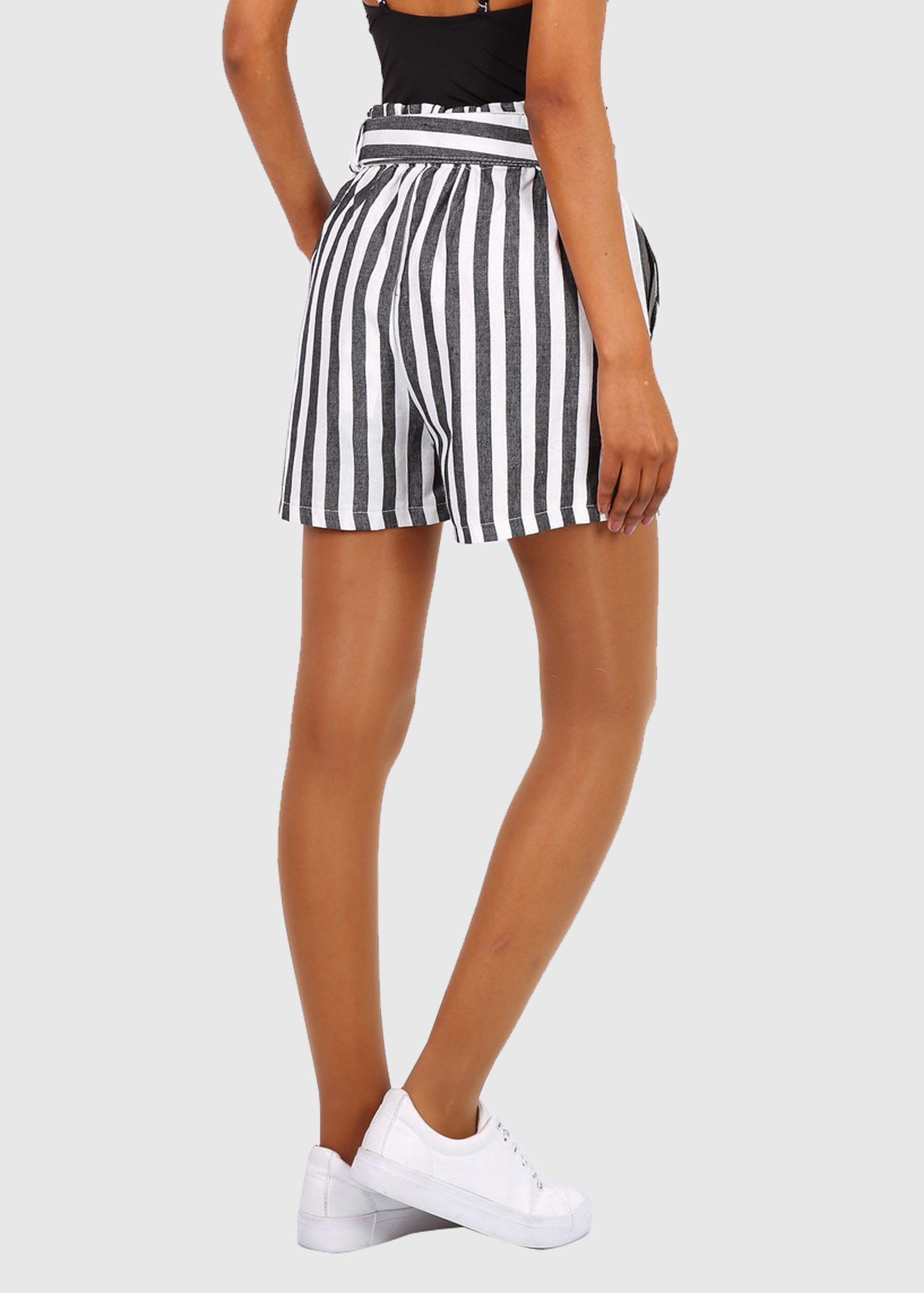 Photo №1 Marcella black striped shorts