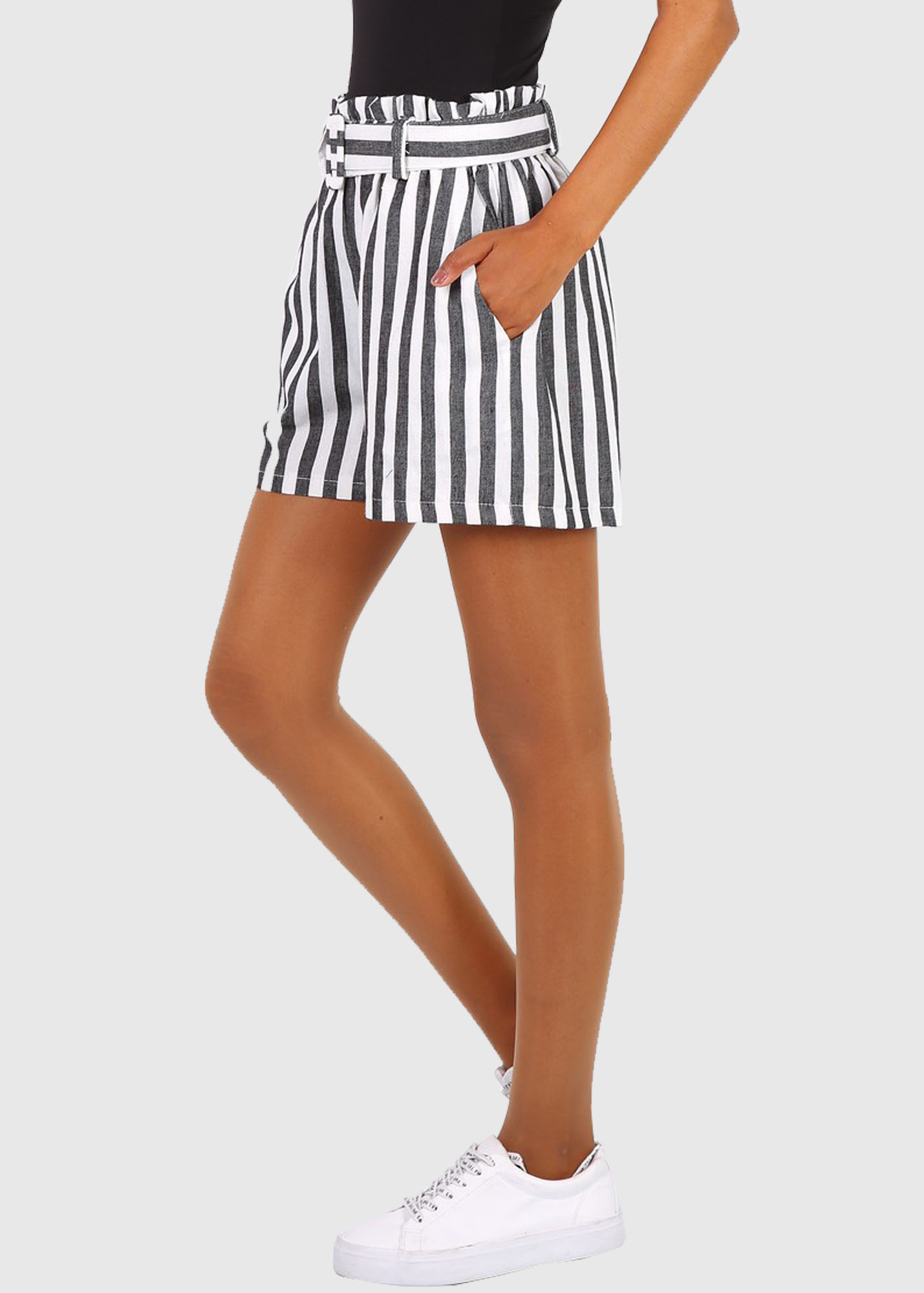 Photo №2 Marcella black striped shorts