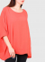 Francesca Plus Size coral blouse