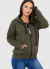 Photo №1 Robbia women's khaki jacket with print